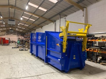 Blue and Yellow Recycling Compaction Unit